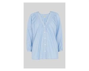 V Neck Pintuck Stripe Shirt