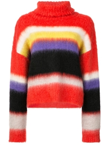 LONG SLEEVE CHUNKY STRIPED TURTLENECK JUMPER