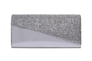Angular East West Clutch With Tinsel