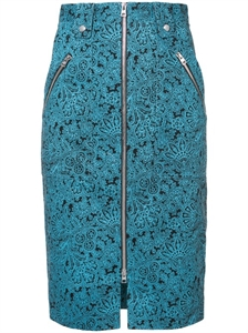 BLUE PATCH POCKET ZIP SKIRT