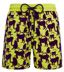 Flocked Happy Monkeys Swim Shorts
