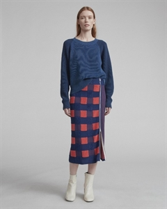 CHECKED SKIRT WITH ZIPPER