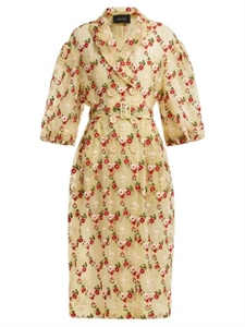 FLORAL EMBROIDERED TULLE COAT