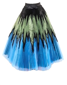 PANEL PLEATED SKIRT