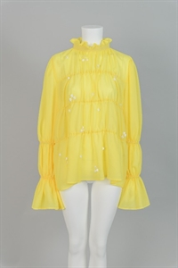YELLOW LACE DETAIL TOP
