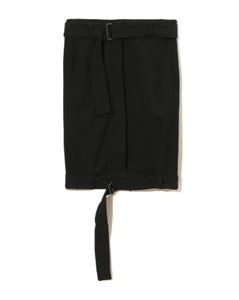 STRAP DETAIL PENCIL SKIRT