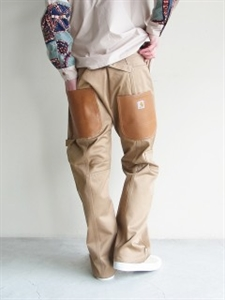WIDE BACK FAKE LEATHER POCKET PATCH RUCK CARHARTT PANT