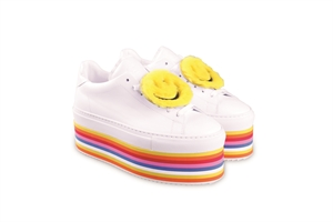 SMILE RAINBOW PLATFORM SNEAKERS