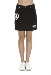 Patches Mini Denim skirt