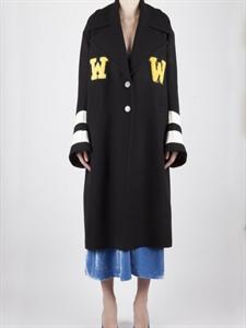 WW Oversized Coat with Striped Belt on Back
