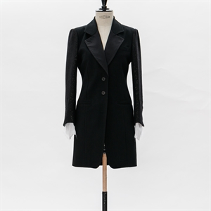 Slim Fit Jacket with Lace sleeves