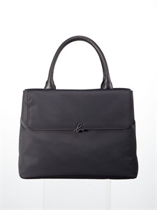Black nylon handbag