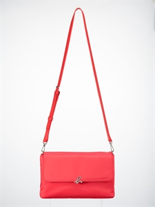 Red nylon handbag