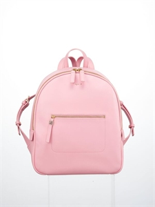 Pink soft cow leather backpack (L)