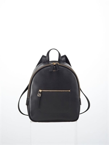 Black soft cow leather backpack (S)