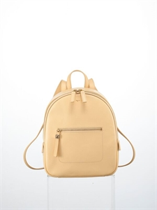 Yellow soft cow leather backpack (S)