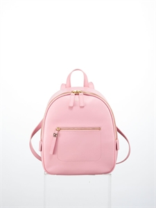 Pink soft cow leather backpack (S)