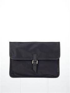 Black nylon clutch bag