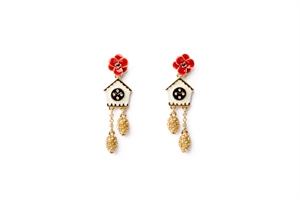 cuckoo clock drop earrings