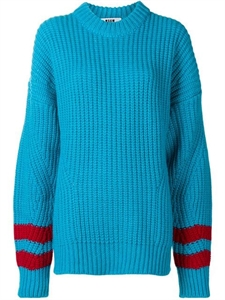 STRIPED SLEEVES JUMPER