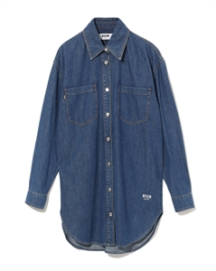 LOGO PRINTED BACK DENIM SHIRT