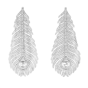 Boucheron Plume de Paon Pendant Earrings