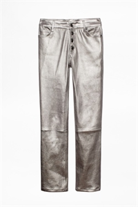 LONDON CUIR PANTALON CUIR METALISE