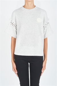LACED S/SLEEVE SWEAT