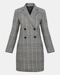 Wool Plaid Square Coat