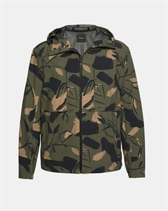 Camo Hooded Tech Jacket