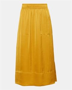 Satin Pull-On Midi Skirt