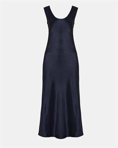 Sateen Cowl Back Midi Dress