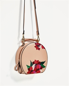 EMBROIDERED OVAL CITY BAG
