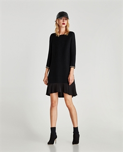 RIBBED DRESS WITH CUFF DETAIL