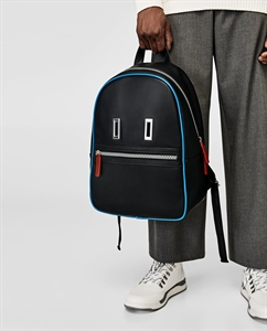 BLACK BACKPACK WITH A FACE