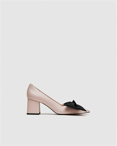 MEDIUM HEEL COURT SHOES WITH BOW
