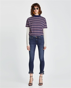Z1975 LOW WAIST FRINGED JEANS