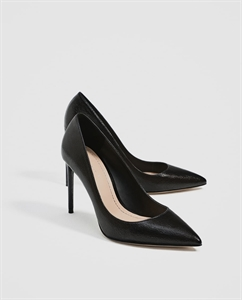 BLACK METALLIC COURT SHOES