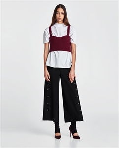 CULOTTES WITH METAL BUTTONS