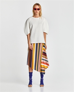 SKIRT WITH MULTICOLORED STRIPES