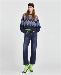 SEQUINNED JACQUARD SWEATER