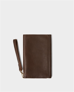 SOFT BROWN XL LEATHER WALLET