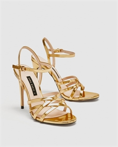 LAMINATED STRAPPY SANDALS
