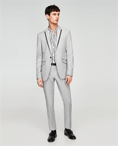CONTRASTING SUIT TROUSERS