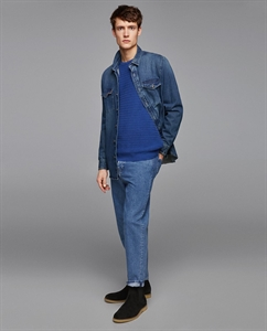 DENIM SHIRT WITH POCKET DETAIL