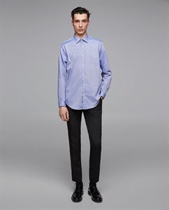 DIAGONAL TEXTURED WEAVE SHIRT
