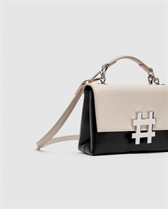 TWO-TONE MINI CITY BAG