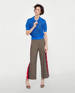 HOUNDSTOOTH TROUSERS WITH STRIPES