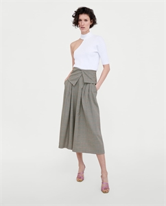CULOTTES WITH TURN-OVER WAISTBAND