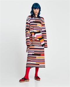 COLOURFUL MULTI-STRIPED DRESS